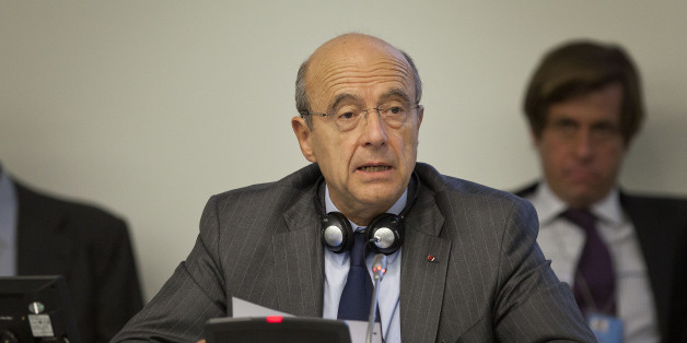 French Foreign Minister Alain Juppe speaks during the Secretary-General's Symposium on International Counter-Terrorism Conference during the 66th session of the General Assembly at United Nations headquarters on Monday, Sept. 19, 2011. (AP Photo/Andrew Burton)