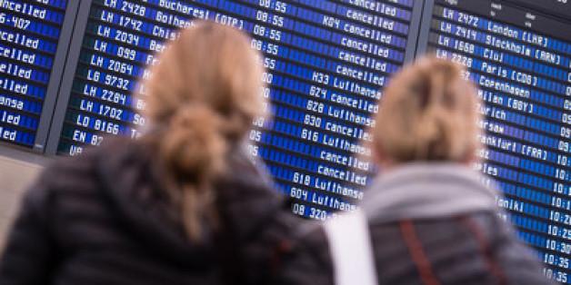 Wie in der vergangenen Woche werden abermals viele Flüge gestrichen