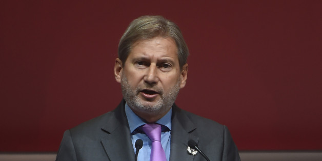 European Commissioner Johannes Hahn gives a speech during the opening ceremony of the 'Tunisia 2020' international investment conference on November 29, 2016 in Tunis.