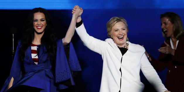 Hillary Clinton und Katy Perry waren auch während des US-Wahlkamps ein gutes Team