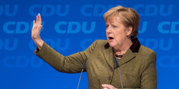 Bundeskanzlerin Angela Merkel spricht auf der CDU-Regionalkonferenz in Münster