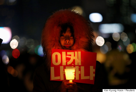 south korea candle light