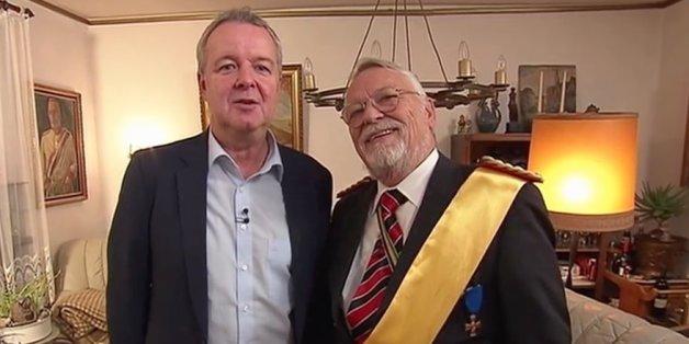 """""""Heute-Show""""-Außenreporter Carsten van Rissen interviewte den """"Reichsbürger"""" Norbert Schittke."""