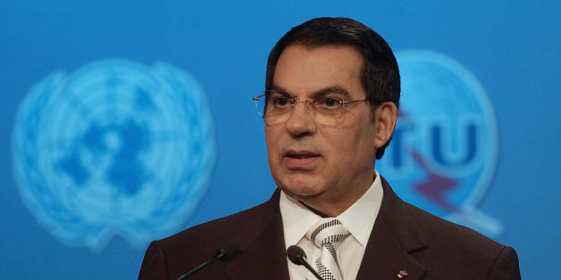 TUNIS, Tunisia:  Tunisian President Zine El Abidine ben Ali gives a speech during the closing ceremony of  the World Summit on the Internet Society (WSIS) 18 November 2005 at the Kram Palexpo in Tunis.  The World Summit on the Information Society in Tunisia closed today with a pledge to drive the IT revolution into poor countries and promote the expansion of the Internet. AFP PHOTO FETHI BELAID  (Photo credit should read FETHI BELAID/AFP/Getty Images)