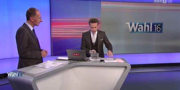 Das ORF verkündet vorschnell den neuen Bundespräsidenten.