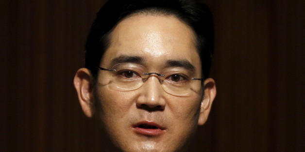 Jay Y. Lee, the company's vice chairman and the only son of Samsung Electronics chairman Lee Kun-hee, makes a public apology over the spread of the Middle East Respiratory Syndrome (MERS) at Samsung Medical Center, at the company's headquarters in Seoul, South Korea, June 23, 2015.   REUTERS/Kim Hong-Ji