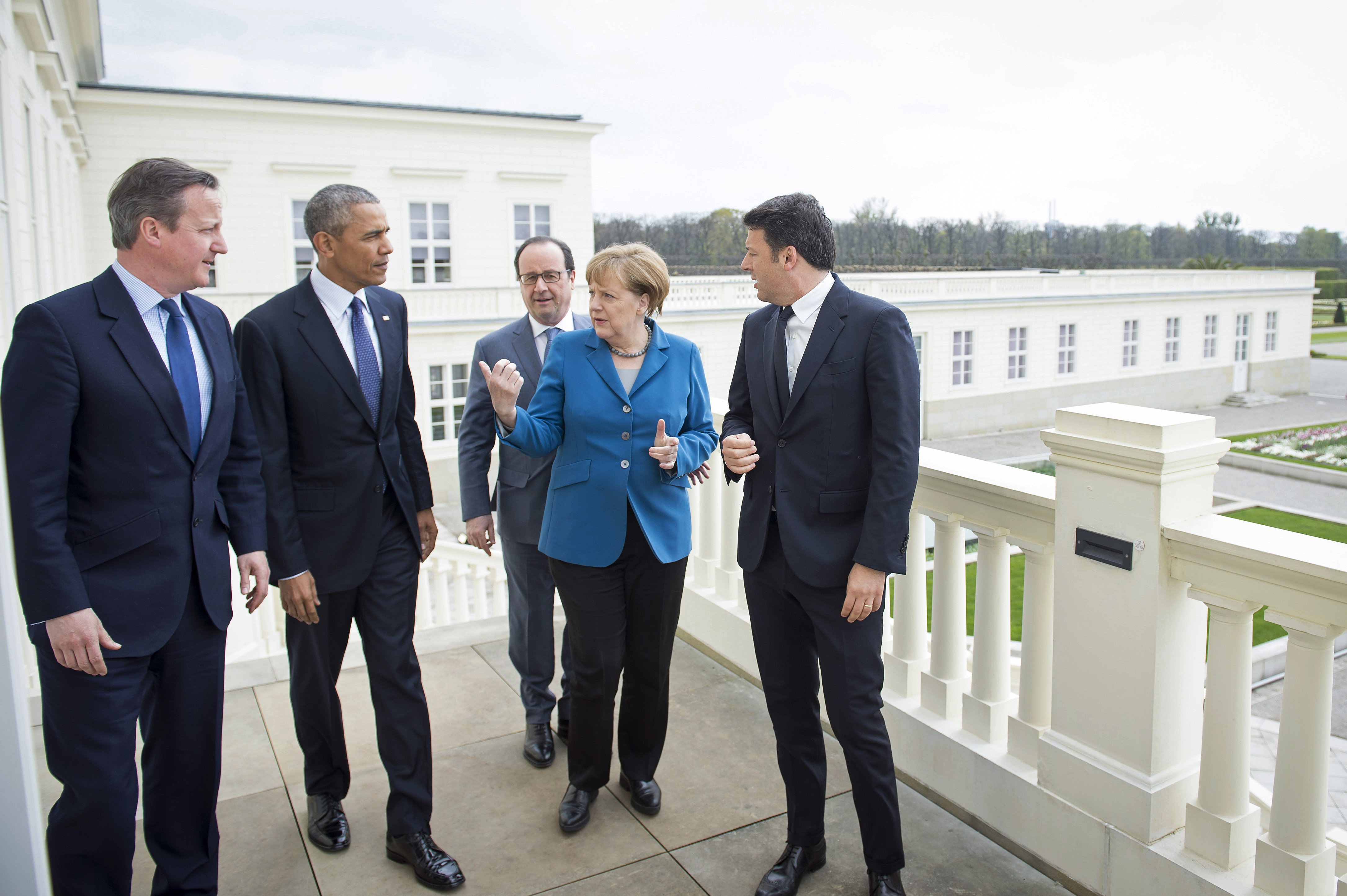 merkel hollande renzi obama hanover