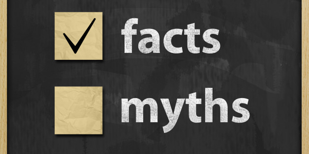Facts Myths Concept Blackboard  (Click for more)