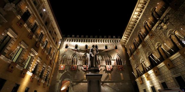 Der Hauptsitz von Monte dei Paschi in Siena