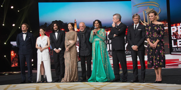 MARRAKECH, MOROCCO - DECEMBER 02:  Jury members Jason Clarke ,Suzanne Clement , Lisandro Alonso, Kalki Koechlin, jury president Bela Tarr, Fatima Harandi 'Raouia', Bruno Dumont, Bille August and Jasmine Trinca attend the 16th Marrakech International Film Festival Opening Ceremony on December 2, 2016 in Marrakech, Morocco.  (Photo by Dominique Charriau/WireImage)