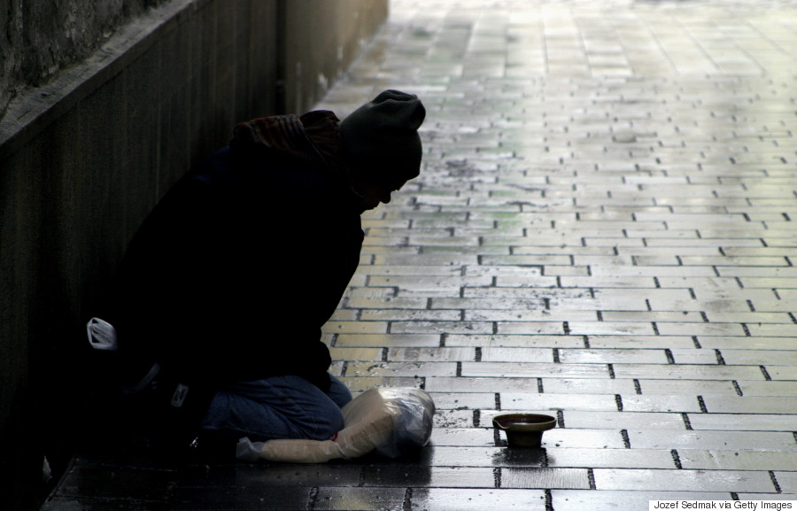 gift homeless person