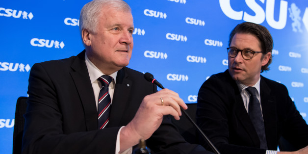 CSU-Chef Horst Seehofer und CSU-Generalsekretär Andreas Scheuer bei der Vorstandssitzung der Partei am 5. Dezember