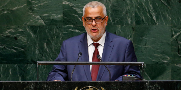 Abdelilah Benkirane, Prime Minister of the Kingdom of Morocco, addresses the 69th United Nations General Assembly at the U.N. headquarters in New York September 25, 2014.                        REUTERS/Lucas Jackson (UNITED STATES  - Tags: POLITICS)
