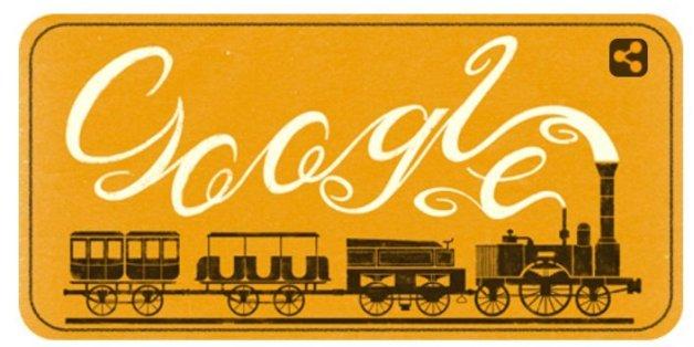 Das Google Doodle ehrt die erste kommerzielle Lok in Deutschland, den Adler