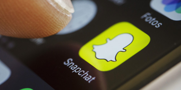 BERLIN, GERMANY - SEPTEMBER 27:  In this photo illustration the app of Snapchat is displayed on a smartphone on September 27, 2016 in Berlin, Germany.  (Photo Illustration by Thomas Trutschel/Photothek via Getty Images)