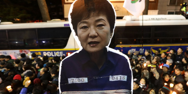 SEOUL, SOUTH KOREA - DECEMBER 03:  Protesters gather and occupy major streets in the city center for a rally against South Korean President Park Geun-hye on December 3, 2016 in Seoul, South Korea. Park addressed to the nation this week that she would leave it to the Parliament to decide if she should step down from her presidency after her friend Choi Soon-sil was charged with corrupt influence over state affairs.  (Photo by Chung Sung-Jun/Getty Images)