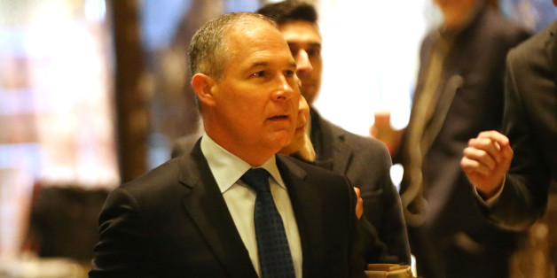 NEW YORK, NY - DECEMBER 07:  Oklahoma Attorney General Scott Pruitt arrives at Trump Tower on December 7, 2016 in New York City. Potential members of President-elect Donald Trump's cabinet have been meeting with him and his transition team of the last few weeks.  (Photo by Spencer Platt/Getty Images)