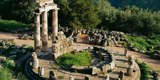 UNSPECIFIED - NOVEMBER 01:  Greece - Delphi - Sanctuary of Athena Pronaia - Tholos (380 back.)  (Photo by De Agostini Picture Library/De Agostini/Getty Images)