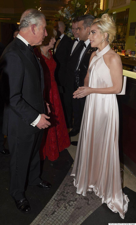 Lady Gaga Hides Her Tattoos At The 2016 Royal Variety Performance
