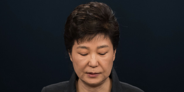 SEOUL, SOUTH KOREA - NOVEMBER 04:  South Korean President Park Geun-Hye speaks during an address to the nation, at the presidential Blue House on November 4, 2016 in Seoul, South Korea. (Photo by Ed Jones-Pool/Getty Images)