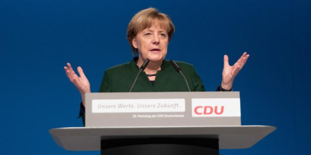 Angelar Merkel beim Parteitag in Essen