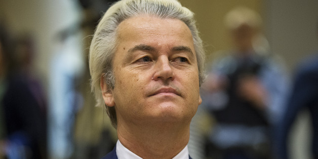Dutch far-right Party for Freedom (PVV) leader Geert Wilders sits in a courtroom of the courthouse in Schiphol, the Netherlands March 18, 2016. REUTERS/Michael Kooren