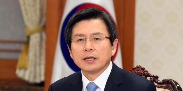 9일 오후 서울 정부서울청사에서 열린 국가안보회의(NSC)에서 황교안 대통령 권한대행이발언하고 있다.