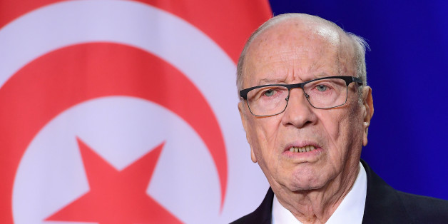 Tunisian President Beji Caid Essebsi poses ahead of a meeting at the European Parliament in Brussels on December 1, 2016.  / AFP / EMMANUEL DUNAND        (Photo credit should read EMMANUEL DUNAND/AFP/Getty Images)