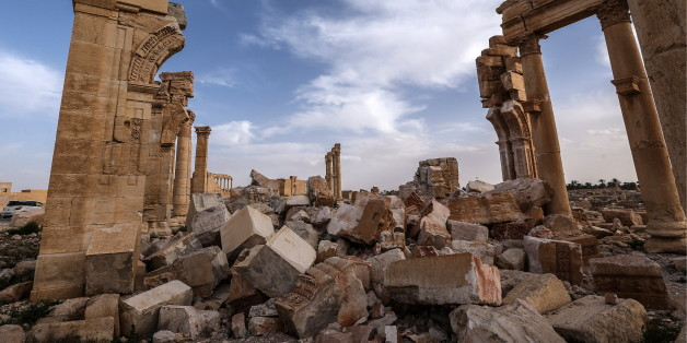Ruinen der UNESCO-Kulturerbestätte und vom IS zerstörten Oasenstadt Palmyra