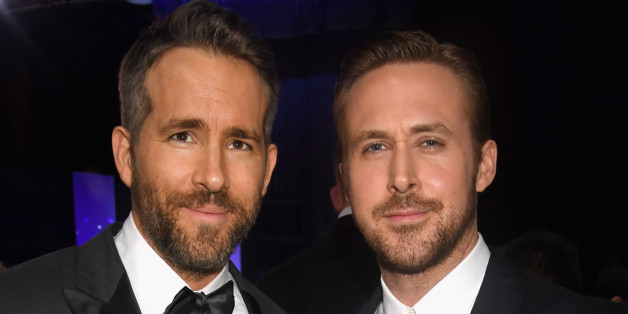 SANTA MONICA, CA - DECEMBER 11:  Actors Ryan Reynolds (L) and Ryan Gosling attend The 22nd Annual Critics' Choice Awards at Barker Hangar on December 11, 2016 in Santa Monica, California.  (Photo by Jeff Kravitz/FilmMagic)