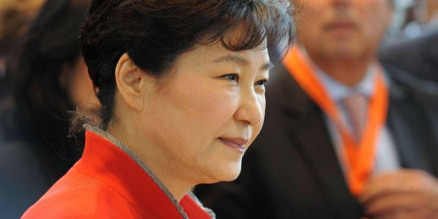 South Korean President Park Geun-Hye looks on as she visits the French multinational industrial gas company Air Liquide on June 4, 2016 in Sassenage, as part of her state visit to France. / AFP / JEAN-PIERRE CLATOT        (Photo credit should read JEAN-PIERRE CLATOT/AFP/Getty Images)