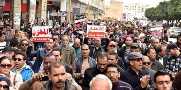 Marche de protestation à Rabat contre la réforme des retraites