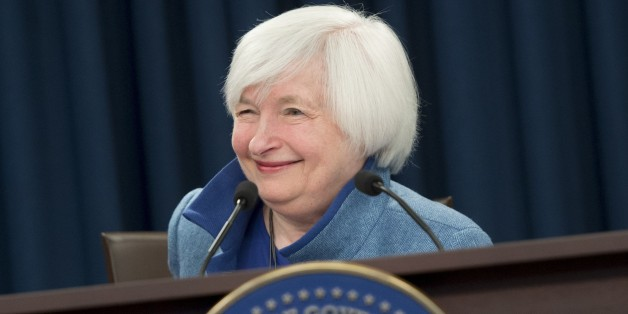 Federal Reserve Chair Janet Yellen speaks during a press conference following the announcement that the Fed will raise interest rates, in Washington, DC, December 14, 2016.The US Federal Reserve on Wednesday raised the benchmark interest rate by a quarter percentage point as expected, citing an improving economy, after its first policy meeting since President-elect Donald Trump's election victory. / AFP / SAUL LOEB        (Photo credit should read SAUL LOEB/AFP/Getty Images)