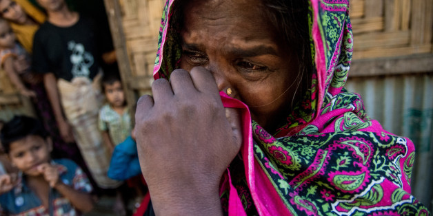 Jahra khatun (45) reached at Rahingya camp of Leda few minutes back, Claimed her Son was killed by military on 8th December 2016. There are six Rohingya camps in Bangladesh, Leda camp is one of them. Day by day, the number of Rohingya people are increasing in those camps. Though Prime Minister of Bangladesh, Sheikh Hasina has warned that Bangladesh's soil will not be used to shelter any 'terrorist from Myanmar.' Rohingya are entering illegally in Bangladesh by crossing the Naf river which is the