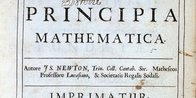 Title page of Newton's Philosophiae Naturalis Principia Mathematica, 1687. English scientist and mathematician Isaac Newton's (1642-1727) discoveries were prolific and exerted a huge influence on science and thought. His theories of gravity and his three laws of motion were outlined in his greatest work, Philosophiae Naturalis Principia Mathematica, (1687) and he is credited with discovering differential calculus. He also formulated theories regarding optics and the nature of light that led to him building the first reflecting telescope. Knighted by Queen Anne in 1705, Newton is buried in Westminster Abbey, London. (Photo by Ann Ronan Pictures/Print Collector/Getty Images)