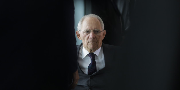 German Finance Minister Wolfgang Schaeuble arrives for the weekly cabinet meeting of the German government at the chancellery in Berlin, Wednesday, Nov. 2, 2016. (AP Photo/Markus Schreiber).