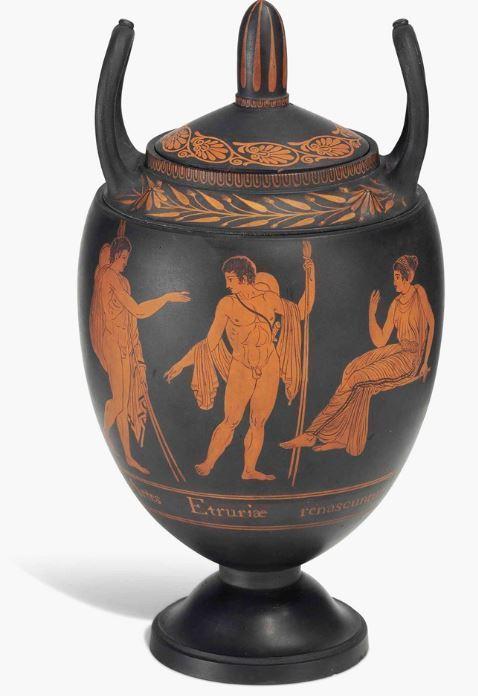 black basaltes vase