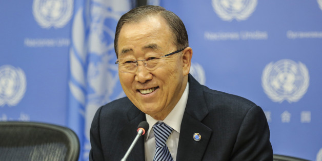 NEW YORK, NY - DECEMBER 16: Secretary-General of the United Nations, Ban Ki-Moon speaks to the audience during a closing press conference at the UN headquarters on December 16, 2016 in New York, New York. Ban Ki-Moon took office on 1 January 2007. His first term expired on 31 December 2011 and was re-elected, unopposed, to a second term on 21 June 2011. António Guterres was appointed by the General Assembly on 13 October 2016 to be his successor. (Photo by William Volcov/BrazilPhotoPress/Lati