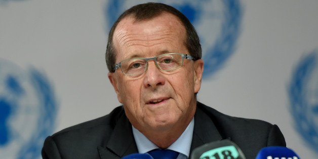 United Nations special envoy on Libya Martin Kobler speaks during a press conference to mark International Migrants Day on December 18, 2016 in Tunis. / AFP / FETHI BELAID        (Photo credit should read FETHI BELAID/AFP/Getty Images)