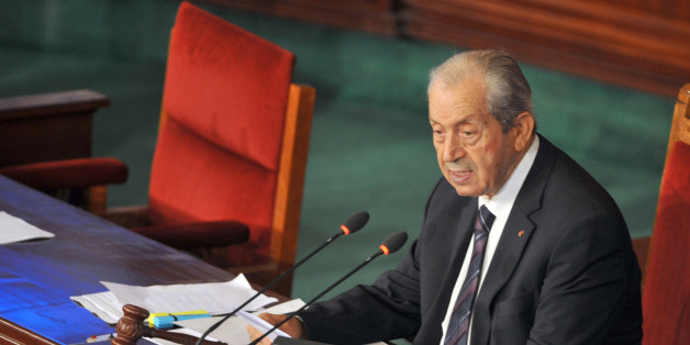 Tunisian President of the Assembly Mohamed Ennaceur addresses the Tunisian parliament in Tunis on November 26, 2015 two days after the attack against presidential guards who were killed in a bomb blast on a bus in the centre of the Tunisian capital. Tunisia announced it is closing its land border with war-torn Libya for 15 days after a deadly bus bombing in Tunis claimed by the Islamic State group.  AFP PHOTO / FETHI BELAID / AFP / FETHI BELAID        (Photo credit should read FETHI BELAID/AFP/Getty Images)
