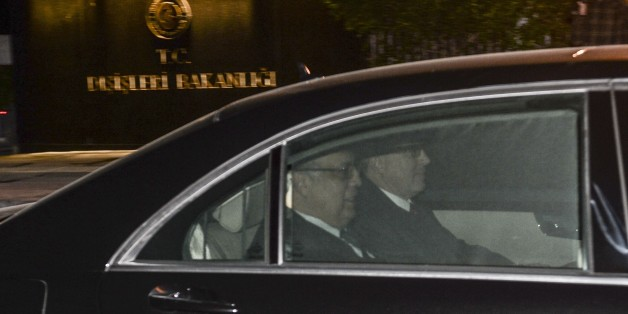 ANKARA, TURKEY - DECEMBER 07: Russian Ambassador to Ankara, Andrey Karlov leaves Turkish Foreign Ministry after he met Burak Ozuergin, General Manager of the Maritime, Aviation and Territorial Border at Turkish Foreign Ministry's Bilateral Political Affairs, in Ankara, Turkey on December 7, 2015 after a Russian serviceman was spotted holding a surface-to-air missile launcher as a Russian warship passed through the Bosphorus. (Photo by Gokhan Balci/Anadolu Agency/Getty Images)