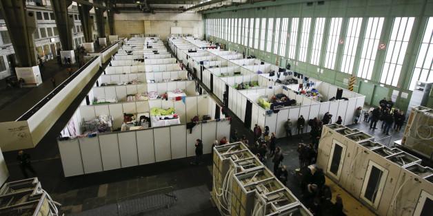 Der Hangar des Flughafens Tempelhof