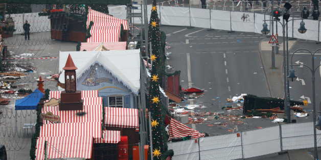 A general view shows the scene where a truck ploughed into a crowded Christmas market in the German capital last night in Berlin, Germany, December 20REUTERS/Pawel Kopczynski