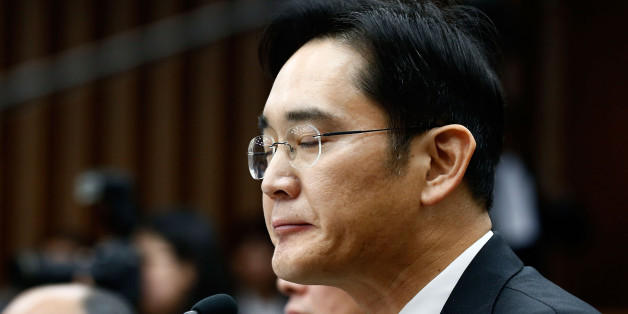 SEOUL, SOUTH KOREA - DECEMBER 06:  Lee Jae-Yong, vice chairman of Samsung answers questions during a parliamentary hearing of the probe in Choi Soon-sil gate at the National Assembly on December 6, 2016 in Seoul, South Korea. South Korea started the parliament hearing with leaders of nine South Korean conglomerates including Samsung, Hyundai, Lotte over the tens of millions of dollars given to foundations controlled by Ms Park's friend Choi Soon-sil, the woman at the center of the scandal.  (Pho
