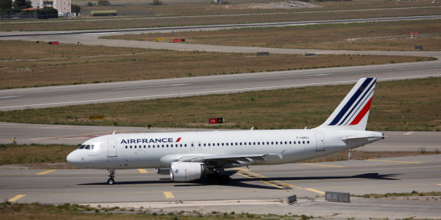 An Air France plane is seen on the tarmac at the Marseille-Provence airport in Marignane on the first day of a strike by Air France stewards, France, July 27, 2016.  REUTERS/Philippe Laurenson