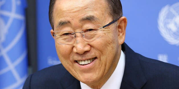 NEW YORK, UNITED STATES - DECEMBER 16 : United Nations Secretary General Ban Ki-moon delivers a speech during a press conference at UN Headquarters in New York, USA on December 16, 2016. (Photo by Volkan Furuncu/Anadolu Agency/Getty Images)