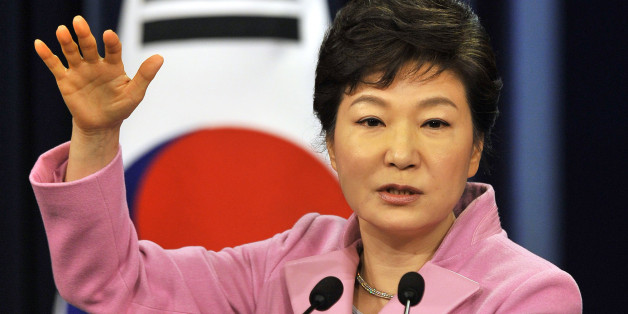 South Korean President Park Geun-Hye speaks during her New Year news conference at the presidential Blue House in Seoul January 6, 2014. REUTERS/Jung Yeon-Je/Pool (SOUTH KOREA - Tags: POLITICS)