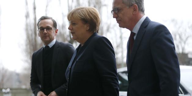 Angela Merkel, Thomas de Maiziere und Heiko Maas sind zu Gast beim Bundeskriminalamt