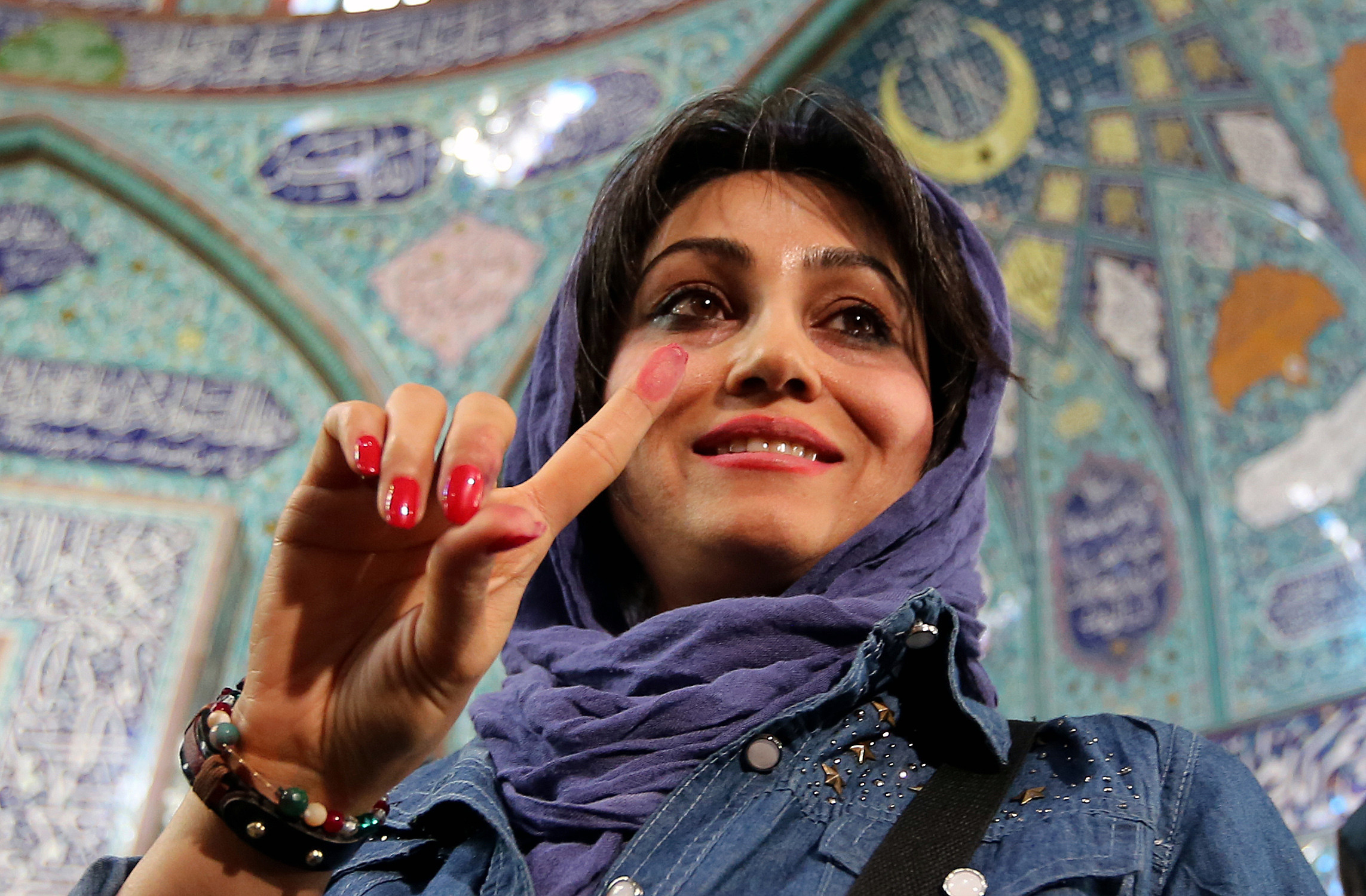 iran elections woman february 2016