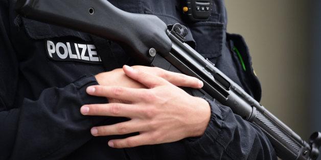 Eine Maschinenpistole vom Typ MP5